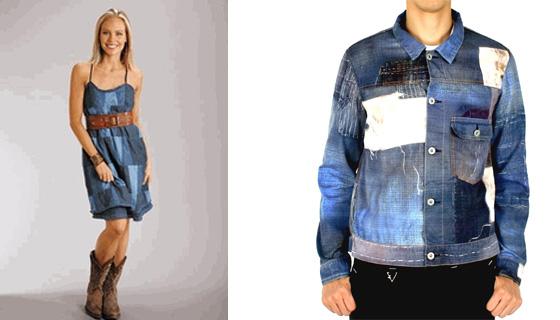 Платье из кусочков джинс